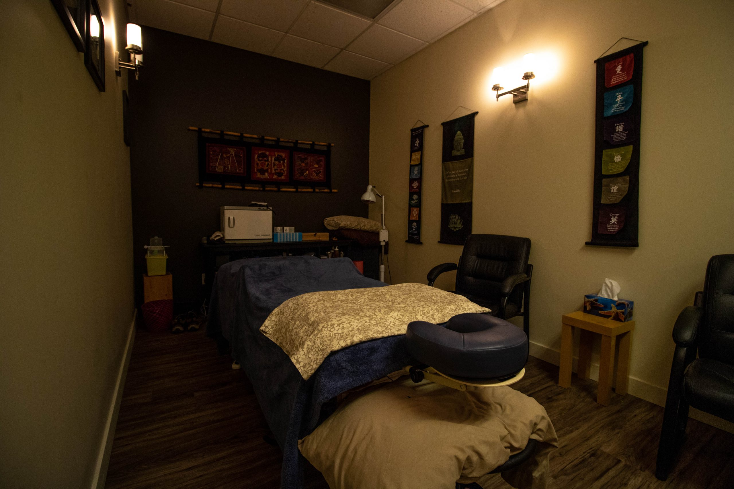 Massage Therapy Room at The Nature Doctors in Winnipeg, MB